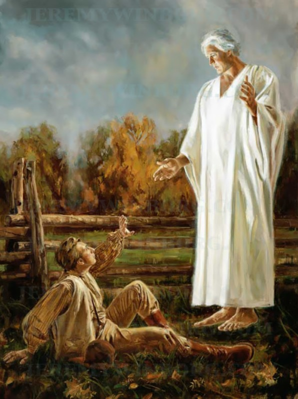 Angel Moroni and young Joseph Smith